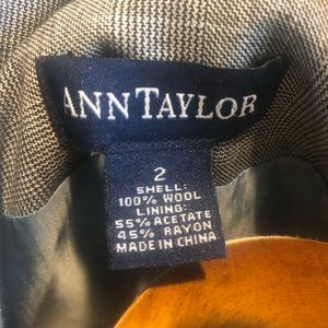 Ann Taylor Jackets & Coats - Gray/light blue pin striped suit jacket